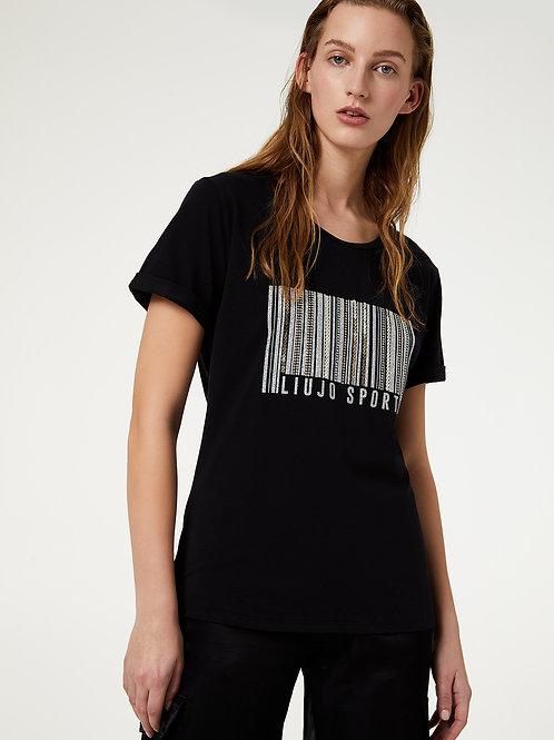 T-shirt Con Castoni Gioiello Liu Jo