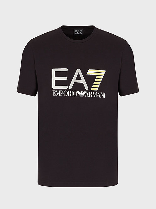 T-shirt in jersey con stampa logo