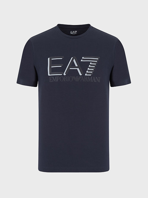 T-shirt in jersey con logo EA7