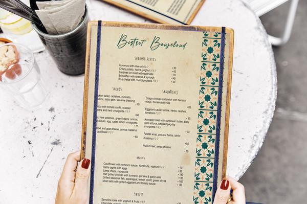 menu design authentic morocco pattern