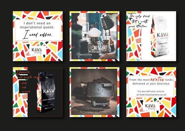 coffee roastery social media template