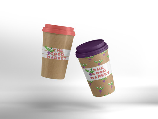 paper cup design customized illustration event
