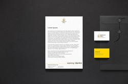 Letterhead Business Card mock up