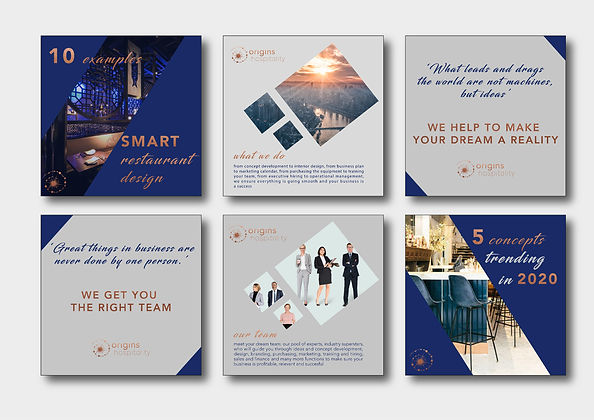 corporate social media templates blue grey copper