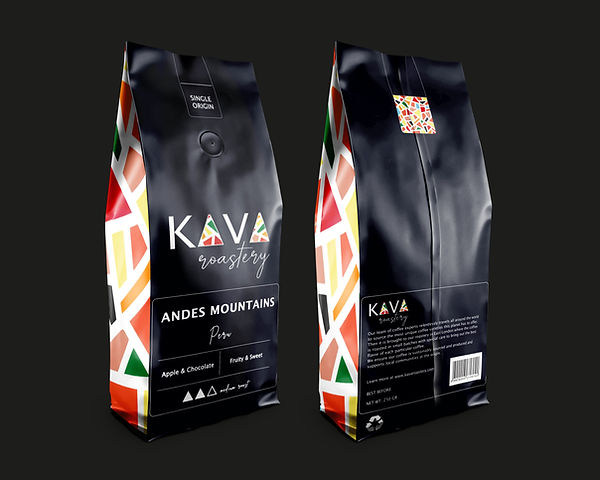 coffee packaging design black