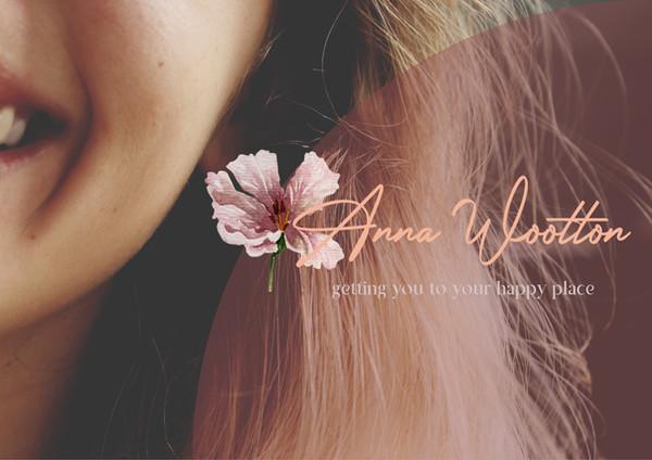 logo flower feminine script soft coach