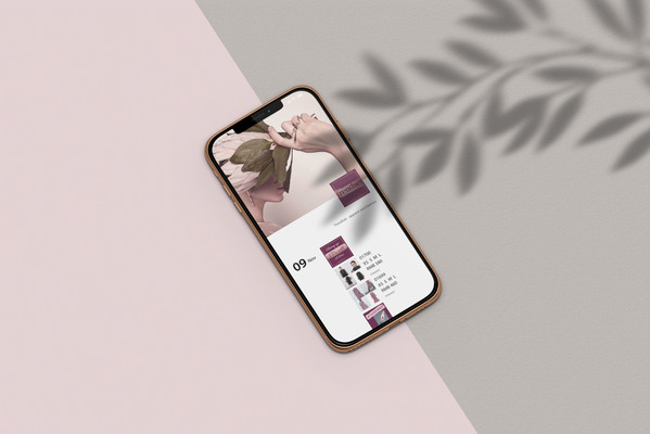 e-commerce social media design feminine