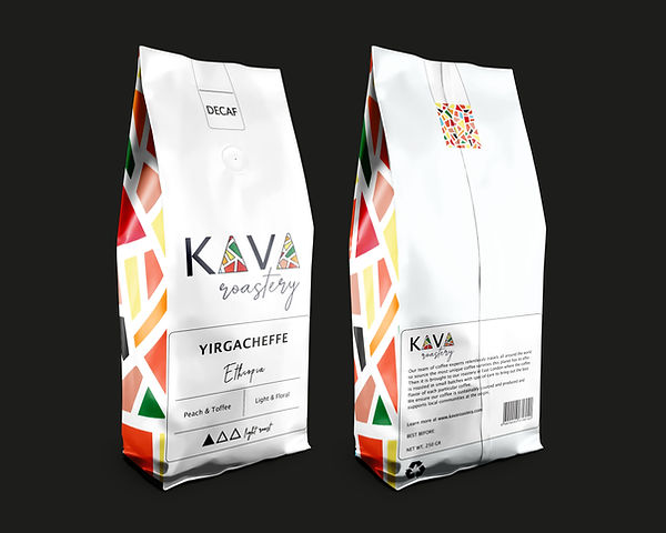coffee packaging design white