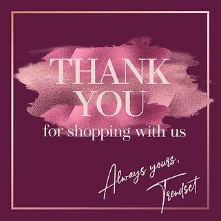 thank you design post instagram template fashion feminine