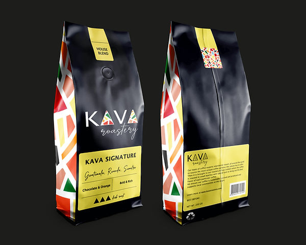 coffee packaging design black yellow