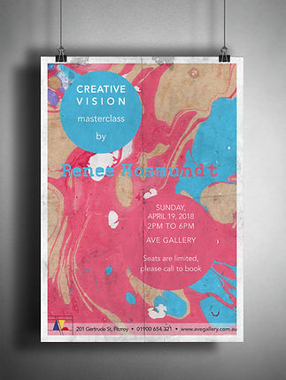 art gallery poster design