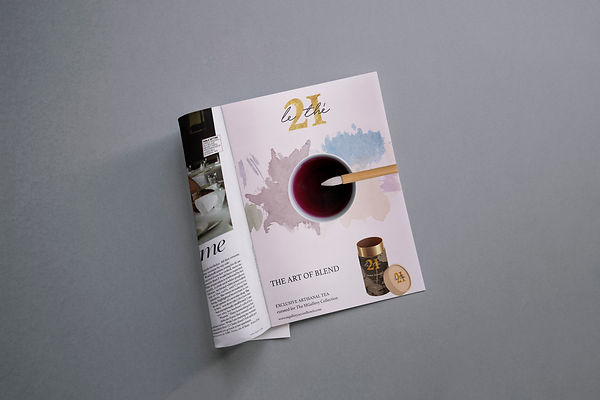 magazine advertisement design art paint tea