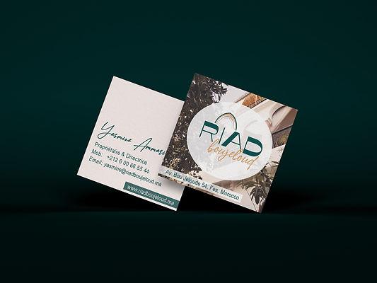 business card square moroccan vibe art deco modern