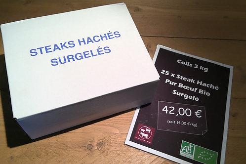 Colis Steaks Hachés Surgelés x 25
