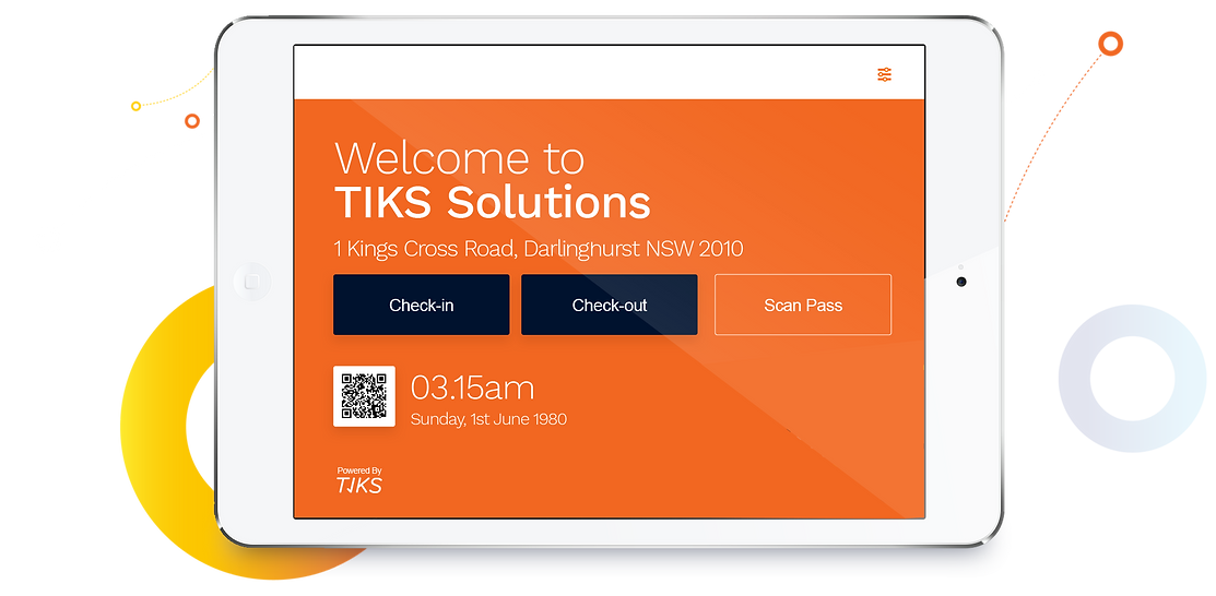 TIKS Tablet Kiosk Check-in