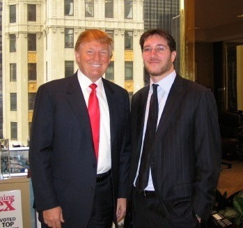 R-L Donald J. Trump and Eli Verschleiser