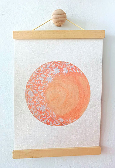 Hello Petal Love By The Moon A4 Print