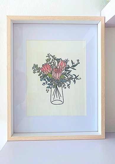 Clare Bernadette Bouquet Print