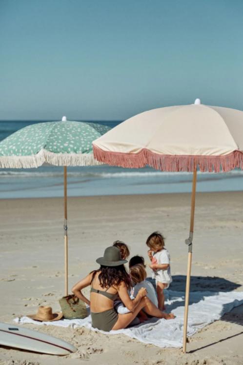 Salty Shadows Canvas Beach Umbrellas