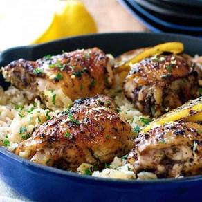 Our Favourite One Pot Baked Chicken & Rice
