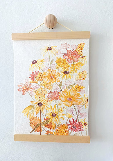 Hello Petal Shades of Sunshine  A4 Print