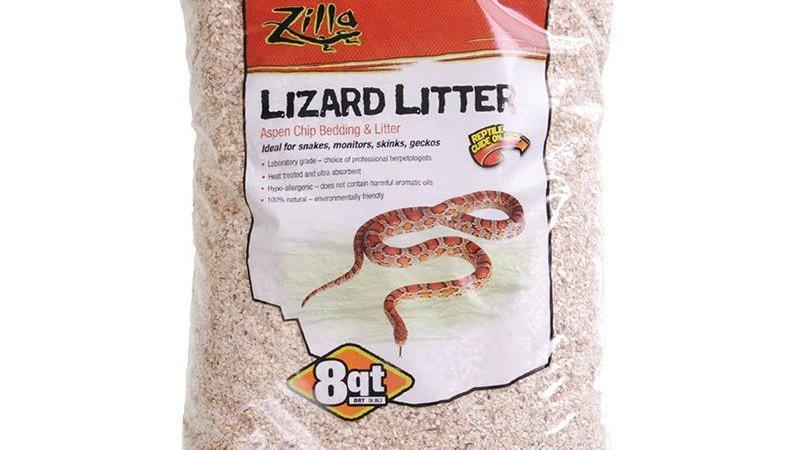 Zilla Lizard Litter - Aspen Chip Bedding & Lutter