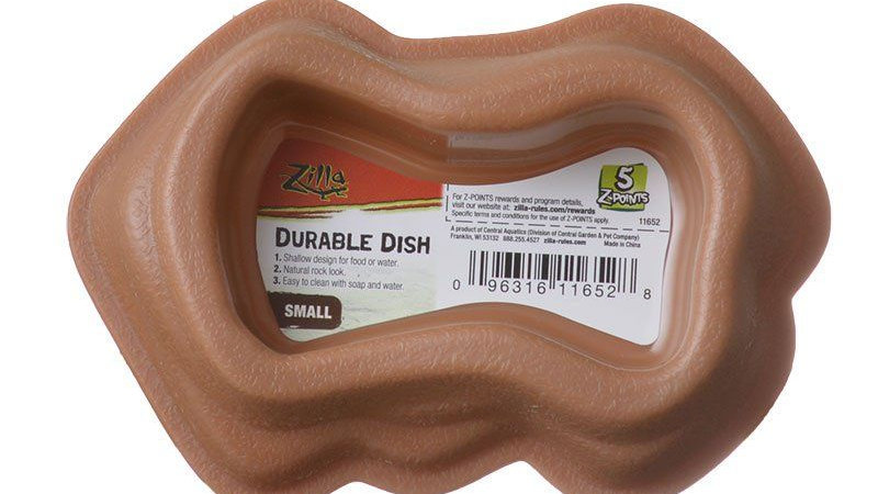 Zilla Durable Dish for Reptiles - Brown