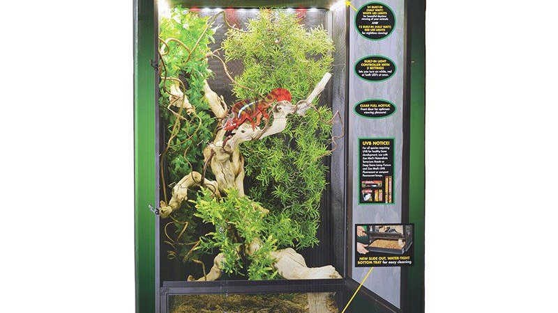 Zoo Med ReptiBreeze LED Deluxe Open Air Aluminum Screen Cage