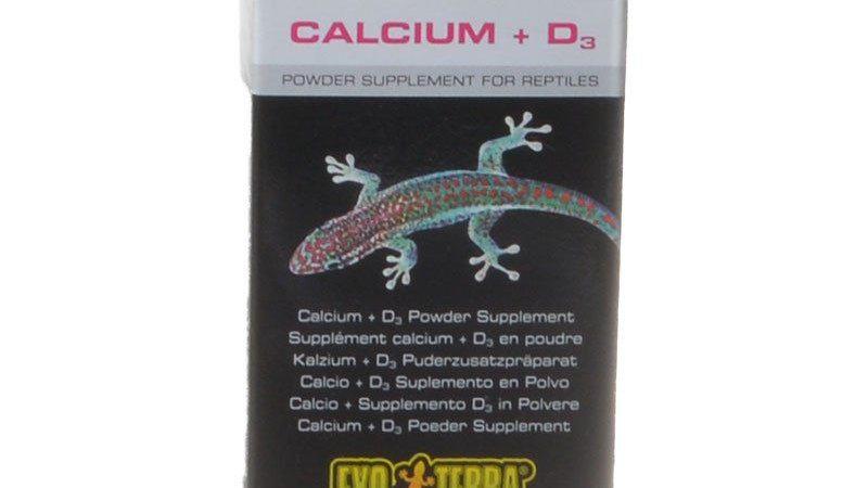Exo-Terra Calcium + D3 Powder Supplement for Reptiles