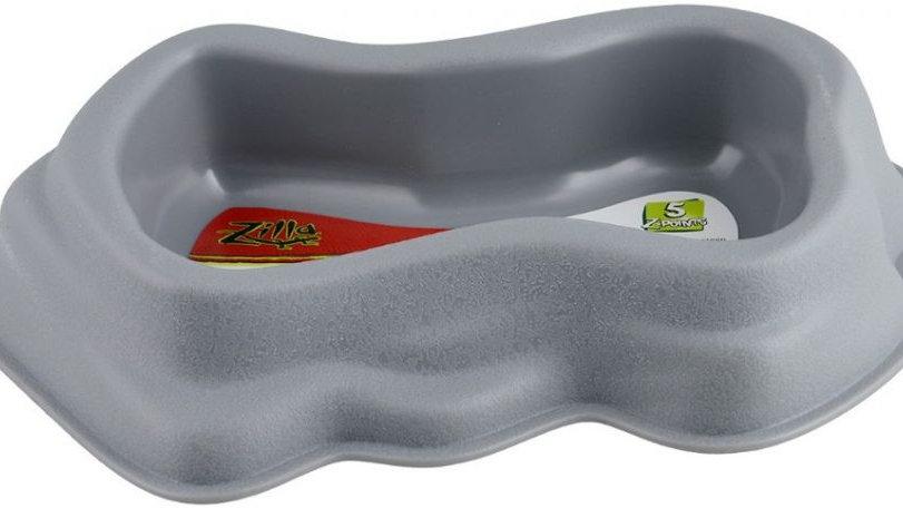 Zilla Decor Durable Dish for Reptiles Grey