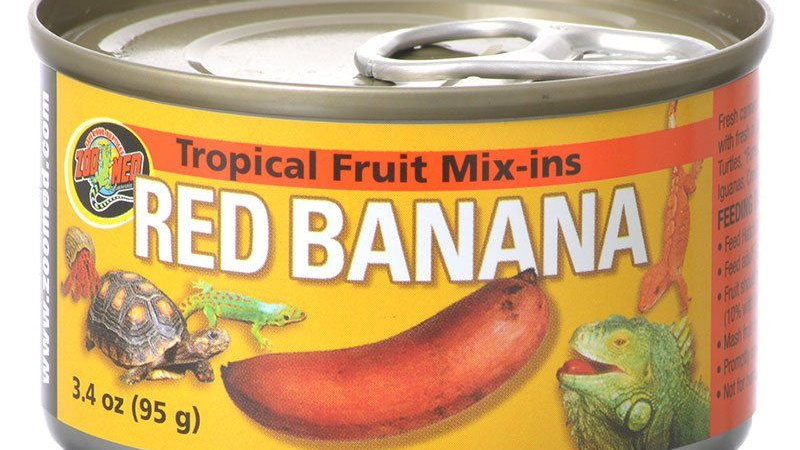 Zoo Med Tropical Friut Mix-ins Red Banana Reptile Treat