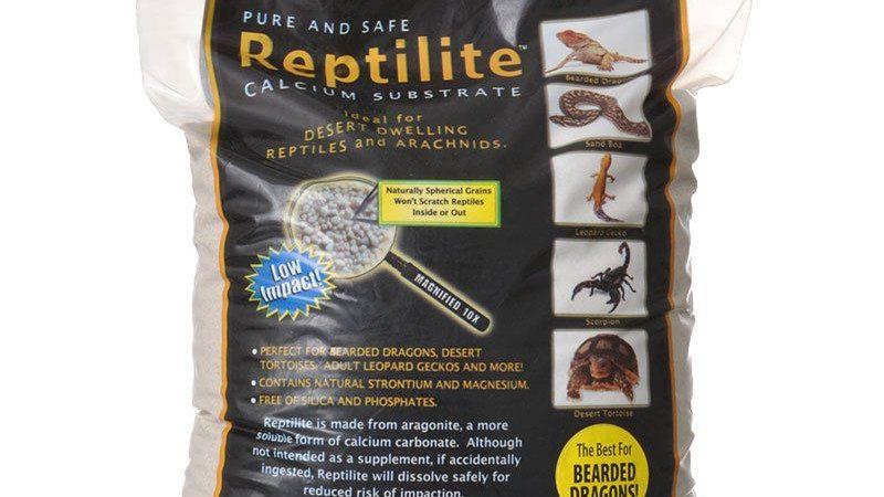Blue Iguana Reptilite Calcium Substrate for Reptiles - Natural White