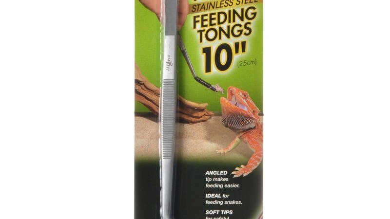 Zoo Med Angled Stainless Steel Feeding Tongs