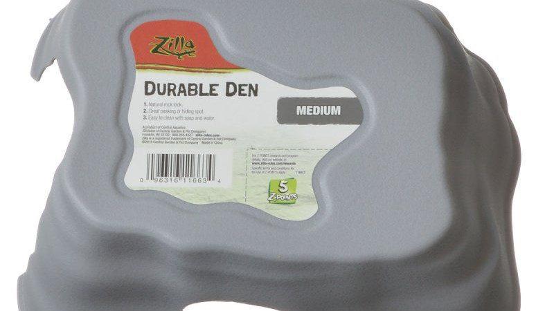 Zilla Durable Den for Reptiles - Gray