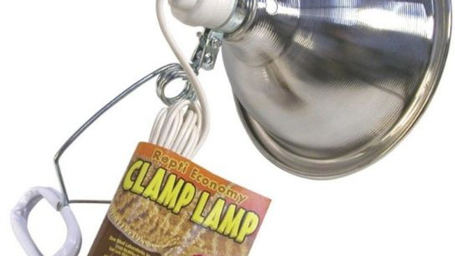 Zoo Med Economy Chrome Clamp Lamp with 8.5 Inch Dome