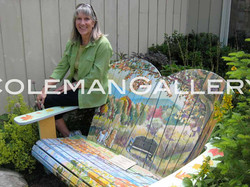 """Artist with """"Fall in Love Seat"""""""