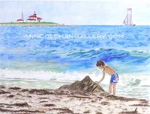 Seascape With Boy