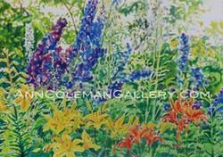 Delphiniums & Lillies