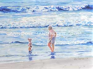 Seascape With Toddler