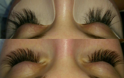 This Lash Set Is A C Curl With 15 Thickness Using 14mm In Length Some 13mm12mm And 10mm Inner Corners Customer Went More Dramatic
