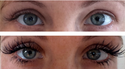 Volumes with lower lash extensions