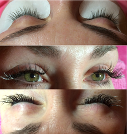 Classic D Curl with Glitter Lashes