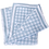 Thumbnail: Gingham and Hearts Reversible Baby Blanket