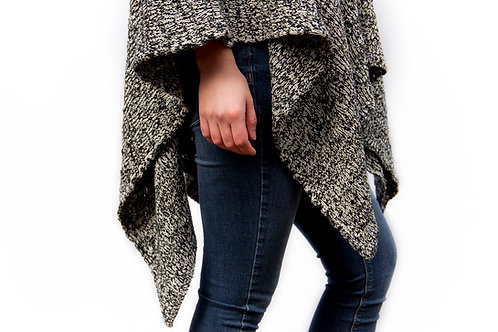 Textured 'Hobo' Poncho