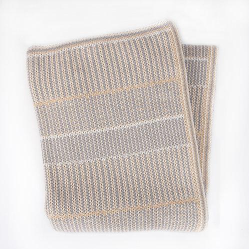Lofty Stripe Cotton Throw Natural/Tan