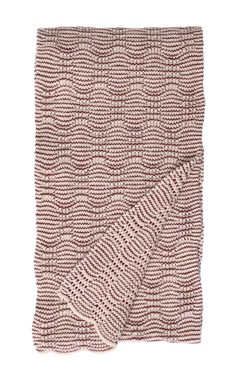 New Wave Scarf Natural/Merlot