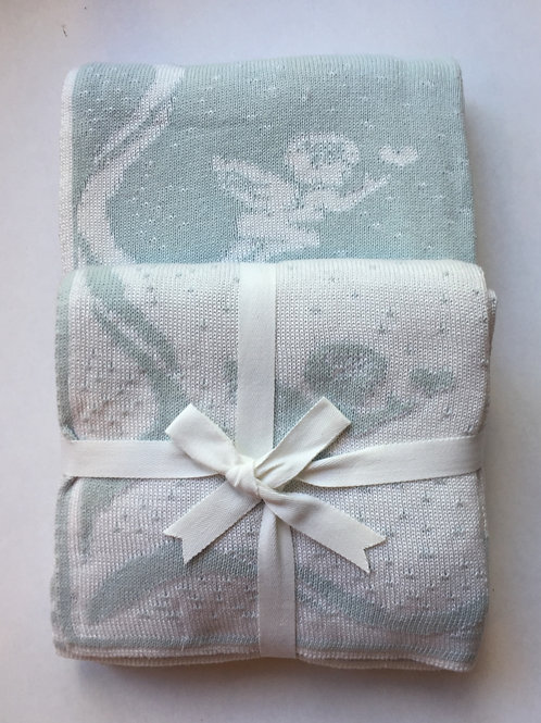 Cotton Baby Blanket | Cherubs and Ribbons