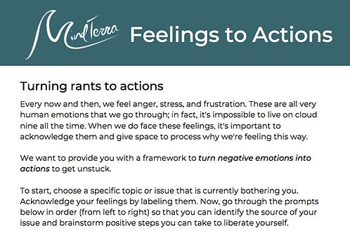 Feelings to Actions