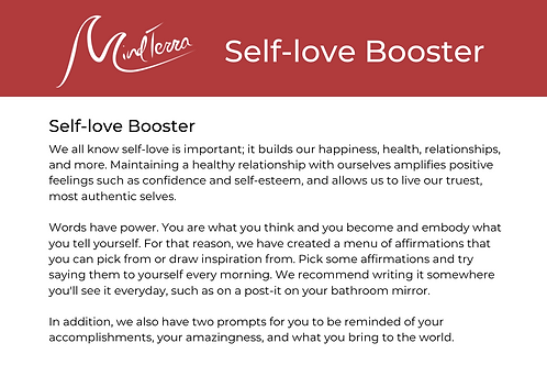 Self-Love Booster