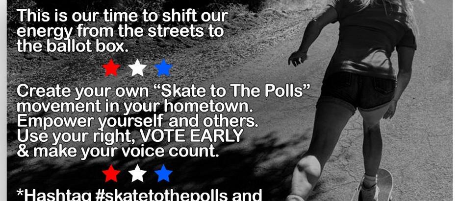united we vote, skate & give back